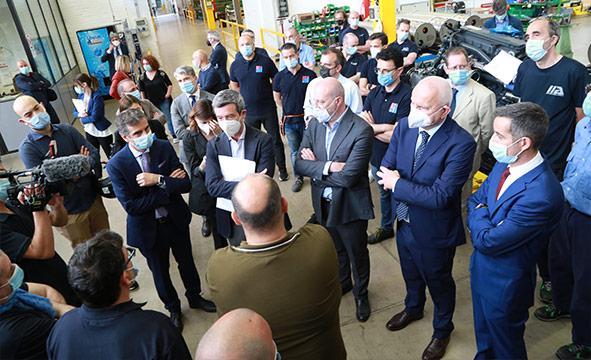 Il Ministro del Lavoro Orlando visita il nostro stabilimento di Bologna – 07 giugno 2021
